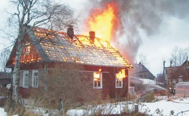 Пожар в Арсеньево Михайловского района