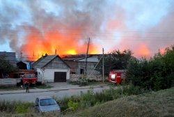 Горел один из складов в городе Михайлове